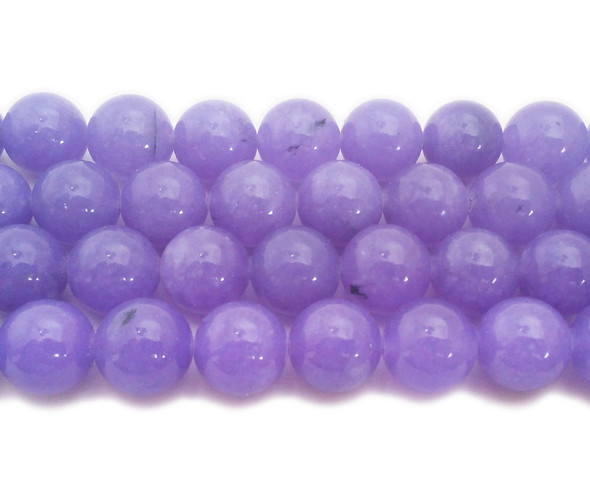 14mm Periwinkle Purple Jade Round Beads