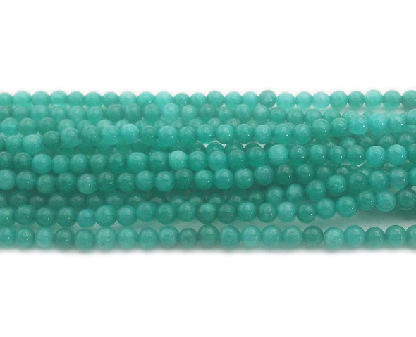 4mm Sea Green Jade Round Beads
