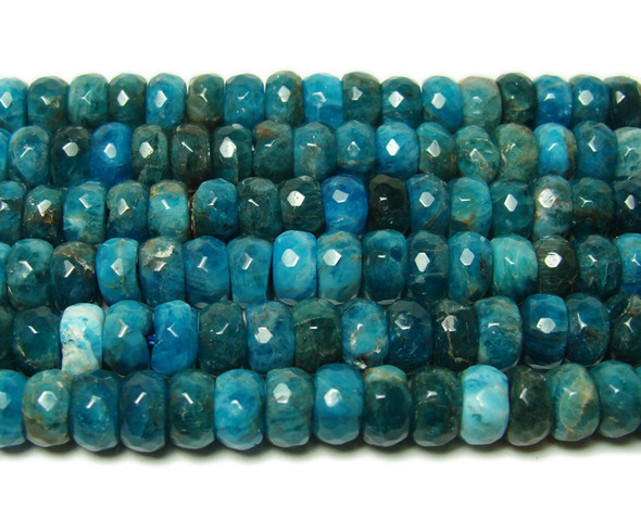 3.5x5mm  Natural blue apatite faceted rondelle beads