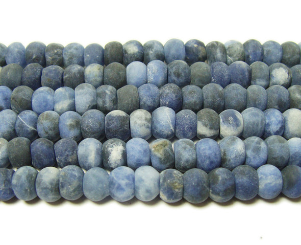 4x6mm Sodalite matte rondelle beads