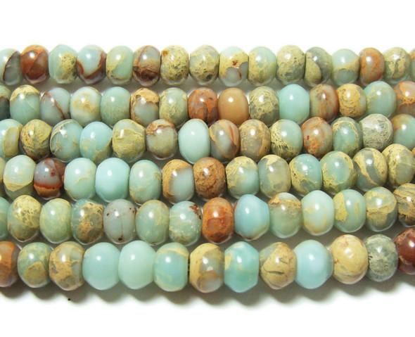4x6mm Snake skin jasper smooth rondelle beads