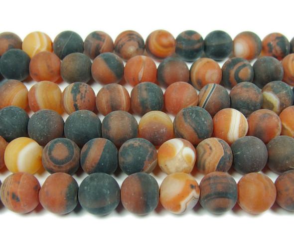 12mm 15.5 Inch Dream Agate Matte Round Beads