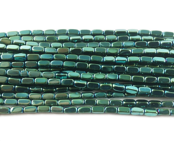 2x4mm Sea green rectangle beads