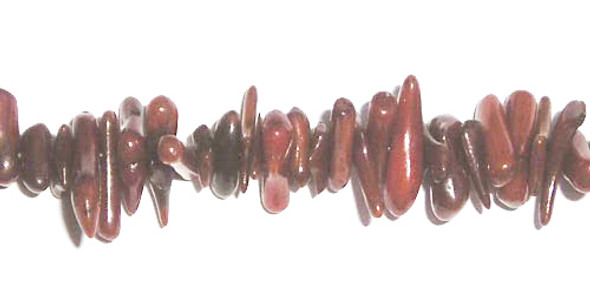 8mm 16 inches Brown coral chips