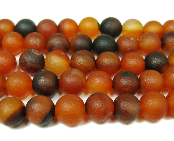 10mm  15.5 inch Antiqued dream agate round beads