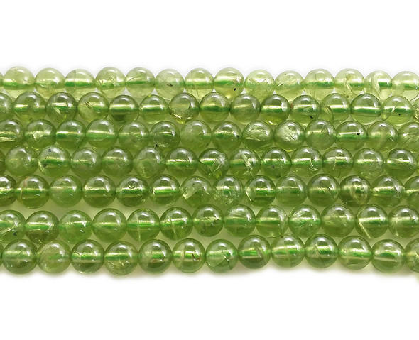 4mm Peridot High Quality Round Beads