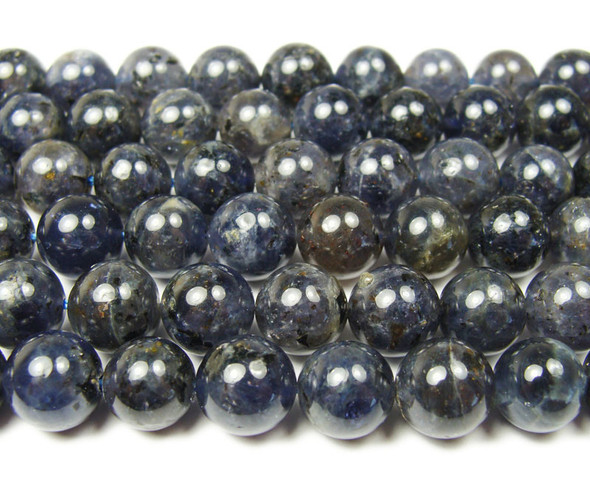 8mm Iolite round beads