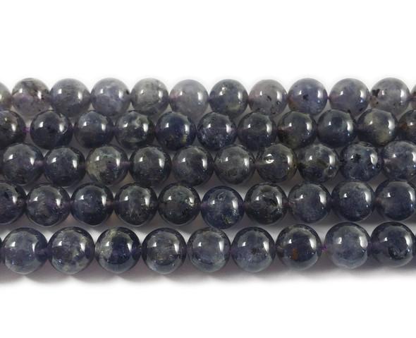 12mm Iolite Round Beads