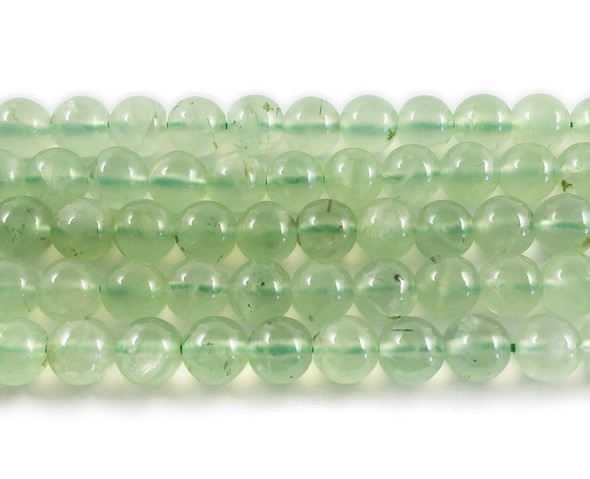 6mm 15.5 Inches Prehnite Round Beads