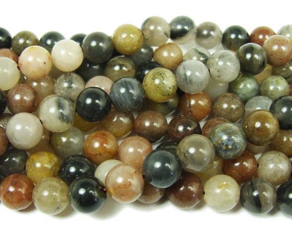 8mm Chinese Tourmaline Smooth Round Beads
