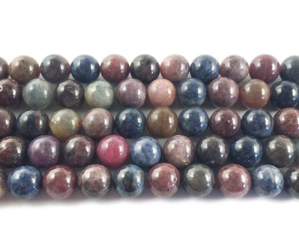 8mm Ruby sapphire round beads