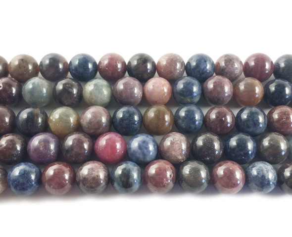 10mm Ruby sapphire round beads