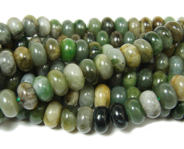 Sinkiang jade smooth rondelle beads