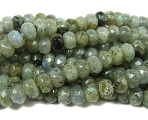 Labradorite faceted rondelle beads (5x8mm,15.5 inches)