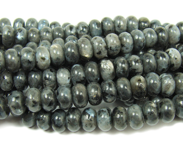 Dark labradorite smooth rondelle beads (5x8mm,15.5 inches)