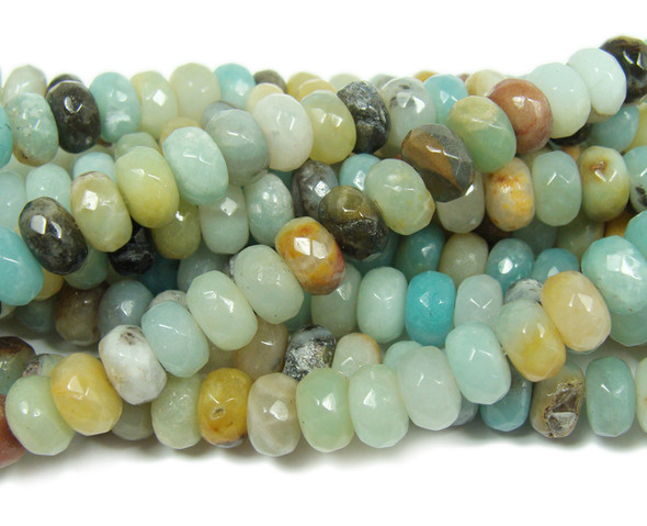 Amazonite faceted rondelle beads (5x8mm,15.5 inches)