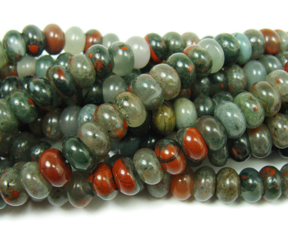 African blood quartz smooth rondelle beads (5x8mm,15.5 inches)