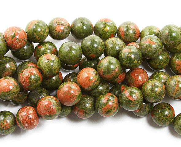 14mm Unakite round beads