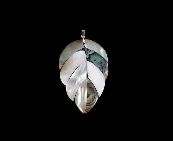 35x54mm Multi shell leaf pendant