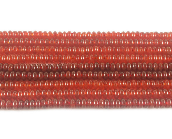 2x4mm Red agate rondelle beads