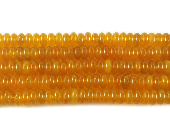 4x8mm Honey yellow agate rondelle beads