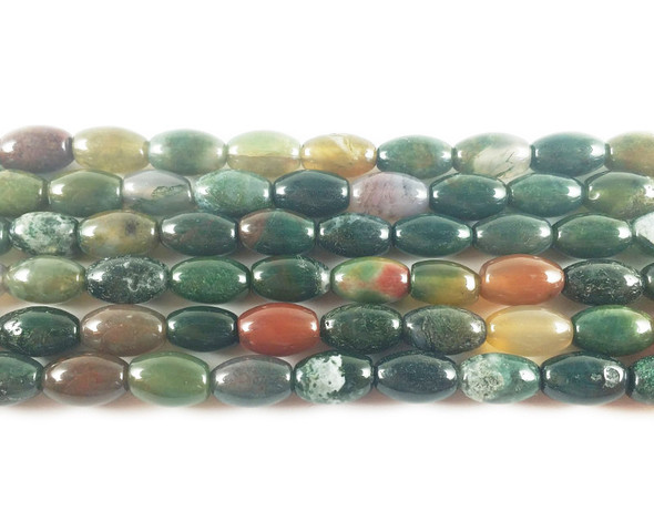 6x9mm Indian agate barrel beads