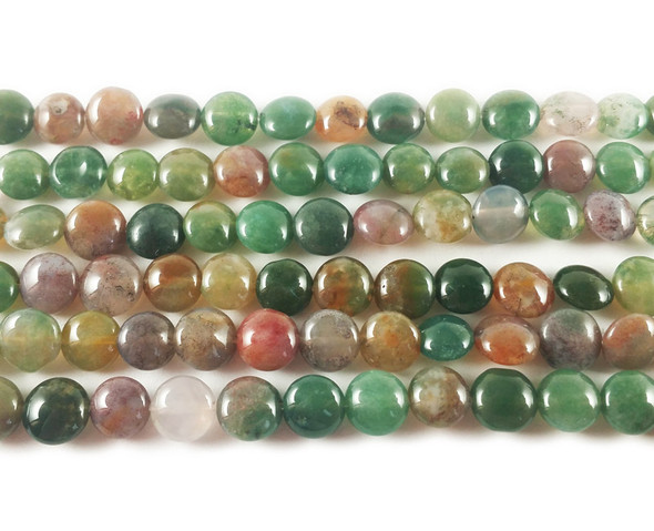6mm Indian Agate Coin Beads
