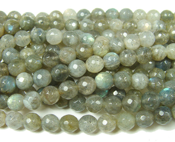 6mm Good Quality Labradorite Faceted Round Beads