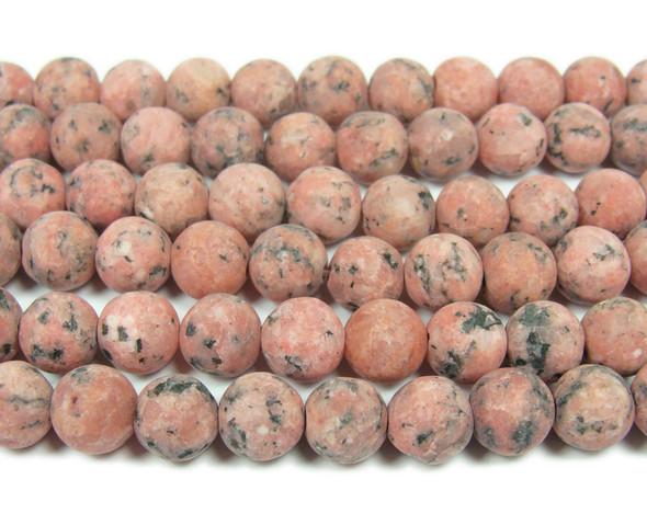 8mm  15.5 inches Rusty red kiwi jade matte round beads