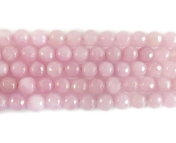 purple jade faceted round beads 10mm Light pink  jade faceted round beads