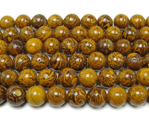 10mm 15.5 Inches Elephant Skin Jasper Round Beads