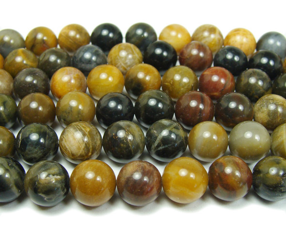 10mm  15.5 inches Petrified wood agate round beads