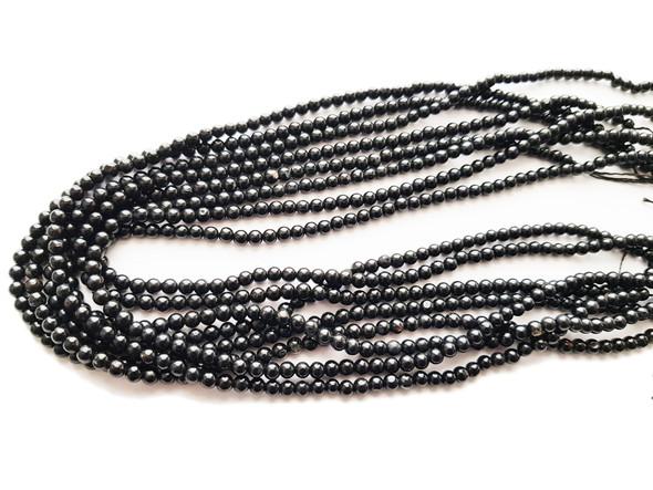 4mm 15.5 Inches Natural Black Tourmaline Round Beads
