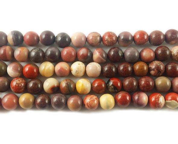 8mm Mookaite jasper round beads