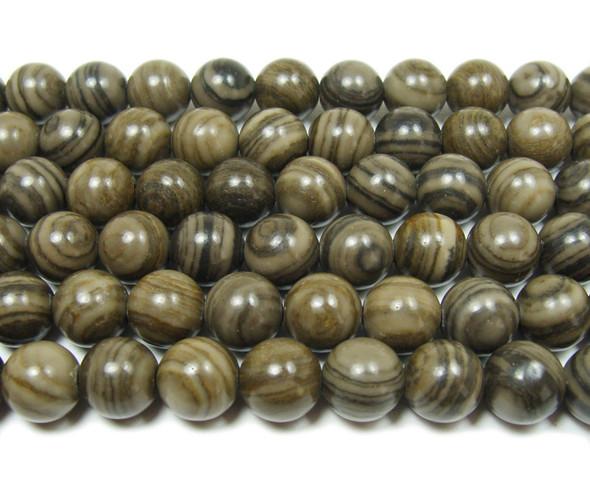 10mm 15.5 Inches Russian Gray Amazonite Round Beads