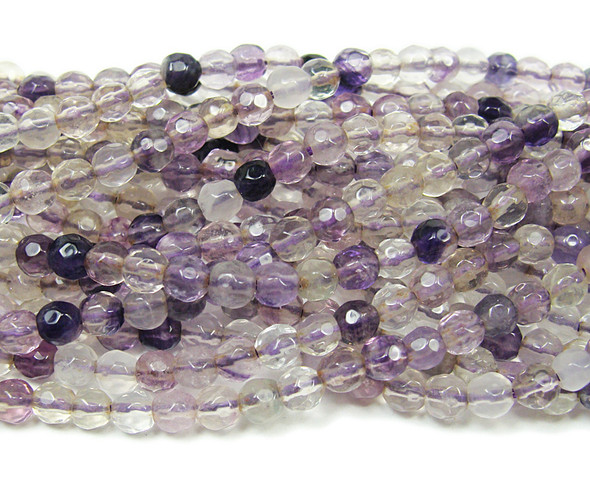 6mm  15 inches Fluorite faceted round beads