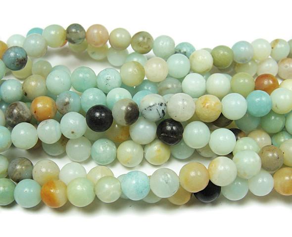 6mm Amazonite Natural Round Beads
