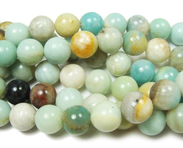12mm Amazonite Natural Round Beads