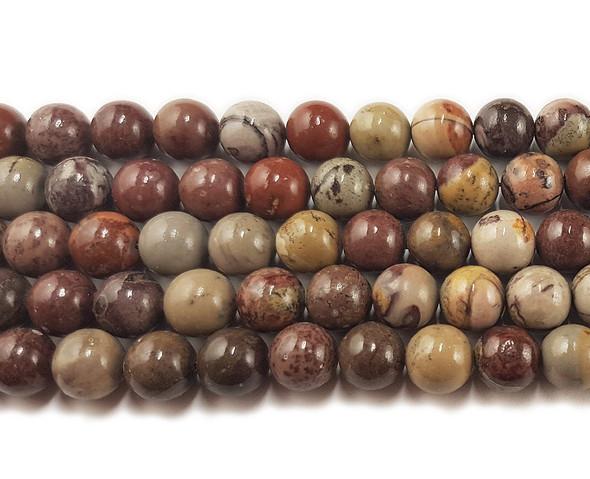 8mm Flower jasper round beads