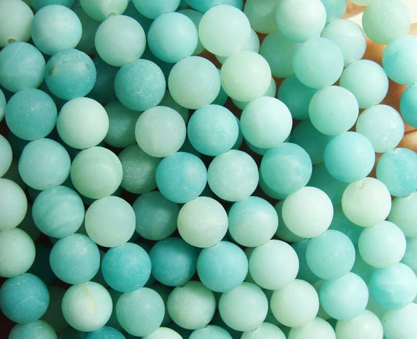 8mm 15.5 Inches High Quality Amazonite Matte Round Beads
