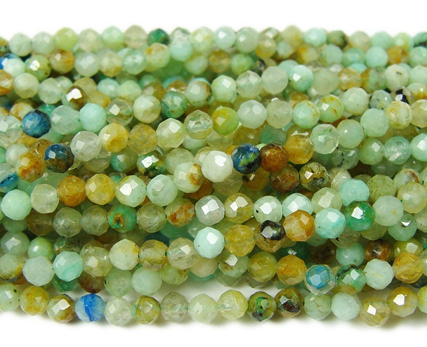 3mm Finely cut genuine phoenix stone beads