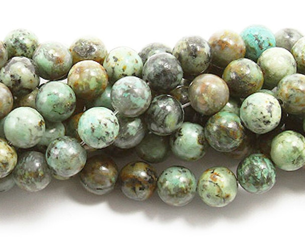 4mm African turquoise round beads