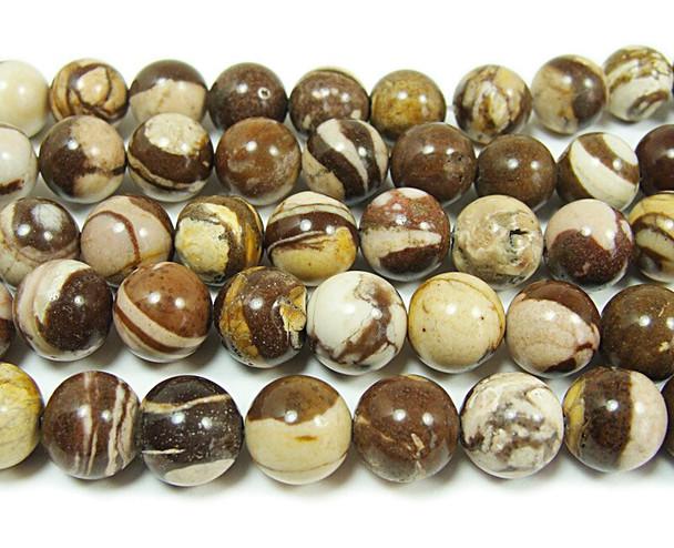 Australian zebra jasper smooth round beads
