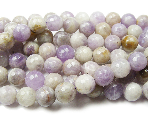 10mm Lavender amethyst faceted round beads