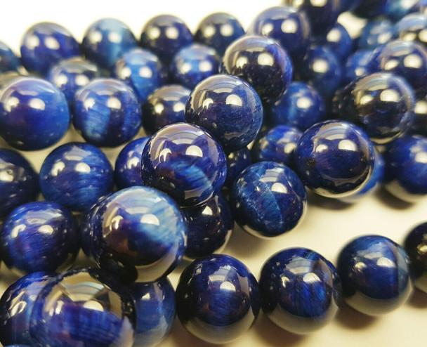 6mm Blue tiger eye smooth round beads