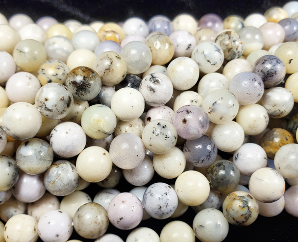 7mm Australian White Opal Smooth Round Beads