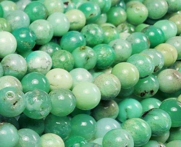 6mm 15.5 Inch Australian Chrysoprase Smooth Round Beads