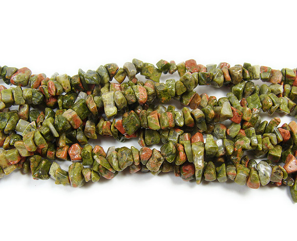 3x7mm  34 inches Unakite chips