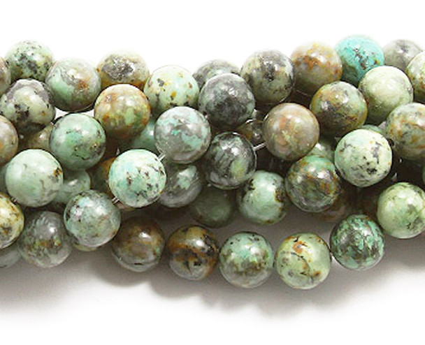 6mm African turquoise round beads