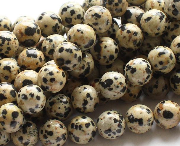 8mm Dalmatian jasper round beads